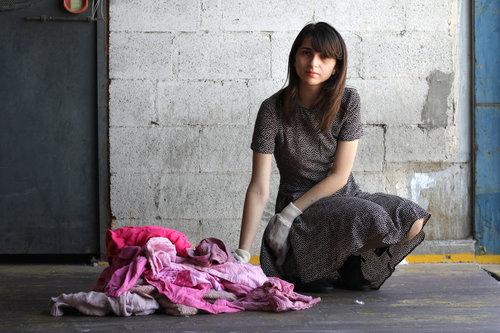 Dana Cohen and textile leftovers, Slow Fix Blog