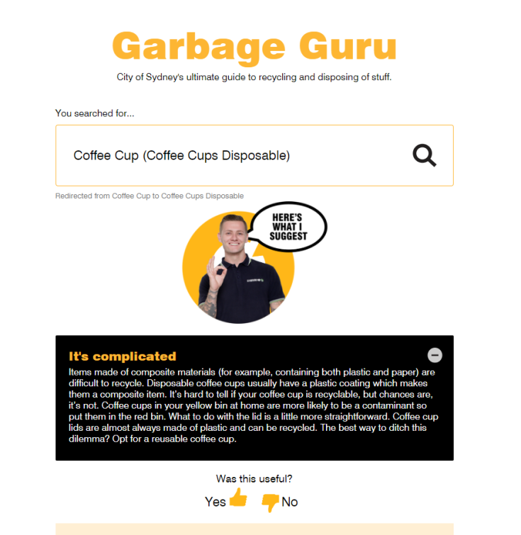 Garbage Guru, City of Sydney Council